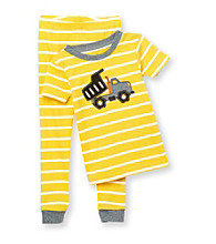 Carter's® Boys' 12M-4T Yellow Striped 2-pc. Dump Truck Pajama Set