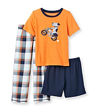 Carter's® Boys' 4-12 Orange/Navy 3-pc. Motorcycle Dog Pajama Set