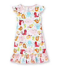 Carter's® Girls' 4-14 Ocean Print Sleep Gown
