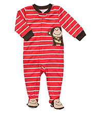 Carter's® Boys' 12M-4T Red Striped Monkey Footie Pajamas