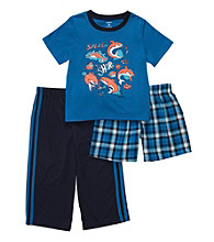 Carter's® Boys' 12M-4T Blue 3-pc. Shark Print Pajama Set