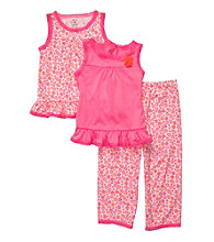 Carter's® Girls' 12M-4T Neon Pink 3-pc. Floral Print Pajama Set