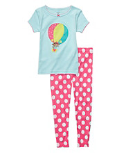 Carter's® Girls' 12M-4T Blue/Pink 2-pc. Air Balloon Pajama Set