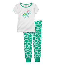 Carter's® Girls' 12M-4T Green/White 2-pc. Turtle Pajama Set