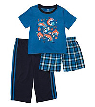 Carter's® Boys' 4-12 Blue 3-pc. Shark Print Pajama Set