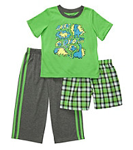 Carter's® Boys' 4-12 Green 3-pc. Dino Pajama Set
