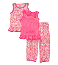 Carter's® Girls' 4-14 Neon Pink 3-pc. Floral Print Pajama Set