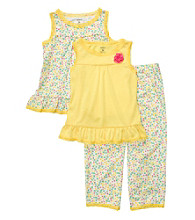 Carter's® Girls' 4-14 Yellow 3-pc. Floral Print Pajama Set