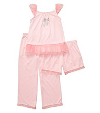 Carter's® Girls' 4-14 Pink 3-pc. Ballet Pajama Set