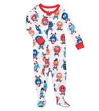 Carter's® Baby Boys' White Monster Footie Pajamas