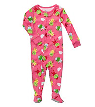 Carter's® Baby Girls' Pink Frog Print Footie Pajamas