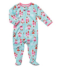 Carter's® Baby Girls' Blue/Pink Castle Footie Pajamas