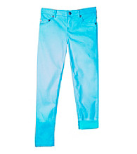 Amy Byer Girls' 7-16 Blue Twill Pants