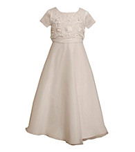 Bonnie Jean® Girls' 7-16 White Embellished Popover Dress
