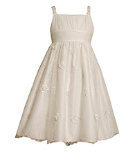 Bonnie Jean® Girls' 7-16 White Embellished Mesh Strappy Dress