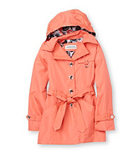 London Fog® Girls' 7-16 Hooded Trench Coat