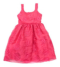 Rare Editions® Girls' 2T-6X Fuchsia Organza Soutache Dress