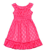 Rare Editions® Girls' 2T-6X Neon Pink Lace Dress