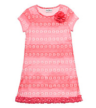 Rare Editions® Girls' 4-6X Coral Daisy Dress