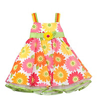 Rare Editions® Girls' 2T-4T Daisy Print Woven Dress