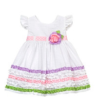 Rare Editions® Girls' 2T-4T White Seersucker Dress