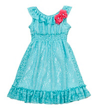 Rare Editions® Girls' 4-6X Mint Lace Dress
