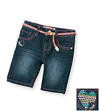 Squeeze® Girls' 2T-6X Dark Stone Heart Pocket Bermuda Shorts