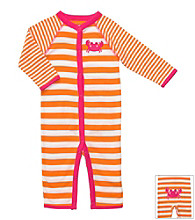 Carter's® Baby Girls' Orange Striped Cotton Crab Jumpsuit