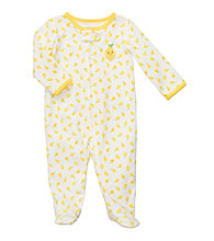 Carter's® Baby Girls' Yellow Cotton Fruit Print Footie