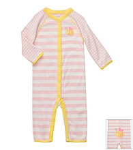 Carter's® Baby Girls' Pink Striped Cotton Bee Jumpsuit