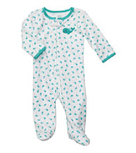 Carter's® Baby Girls' Blue Cotton Whale Footie