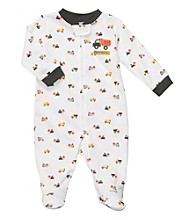 Carter's® Baby Boys' White Cotton Schiffli Construction Footie