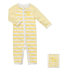 Carter's® Baby Yellow Striped Cotton Duck Jumpsuit