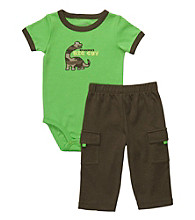 Carter's® Baby Boys' Green/Brown 2-pc. Dino Set