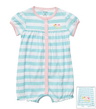 Carter's® Baby Girls' Blue/White Striped Turtle Creeper
