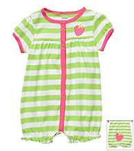 Carter's® Baby Girls' Green Striped Strawberry Creeper