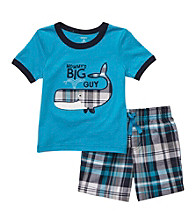 Carter's® Baby Boys' Blue Plaid 2-pc. Whale Shorts Set