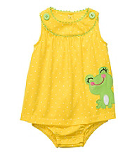Carter's® Baby Girls' Yellow Frog Sunsuit