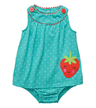 Carter's® Baby Girls' Turquoise Strawberry Sunsuit