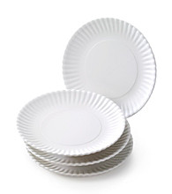 LivingQuarters Set of 4 Washable Plates