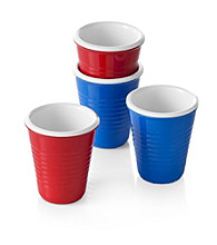 LivingQuarters Set of 4 Shot Glass Set