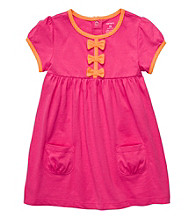 Carter's® Baby Girls' Pink Bow Dress with Diaper Cover