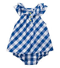 Carter's® Baby Girls' Blue Plaid Woven Sunsuit