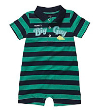 Carter's® Baby Boys' Green/Navy Striped Polo Romper
