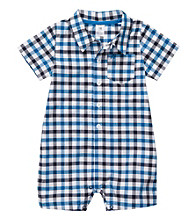 Carter's® Baby Boys' Blue Plaid Woven Romper