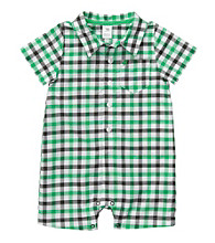 Carter's® Baby Boys' Green Plaid Woven Romper