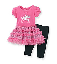 Vitamins Baby® Baby Girls' Pink 2-pc. Wild Princess Dress and Leggings Set