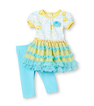 Vitamins Baby® Baby Girls' Yellow 2-pc. Rose Dress and Leggings Set