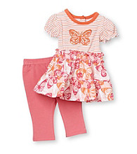 Vitamins Baby® Baby Girls' Pink 2-pc. Butterfly Dress and Leggings Set