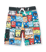 Mambo® Boys' 4-7 Multi Monster Side Pocket Board Shorts